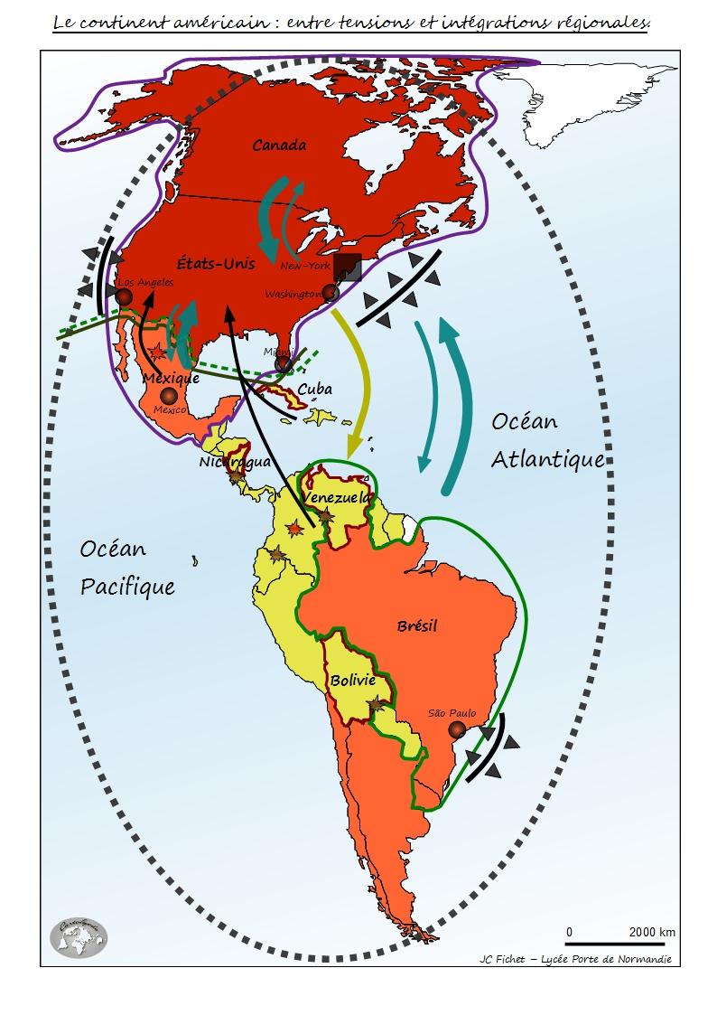 Fond De Carte Bresil Eduscol.Le Continent Americain Entre Tensions Et Integrations Regionales